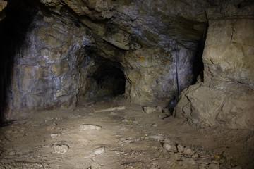 Underground mine tunnel abandoned niobium ore