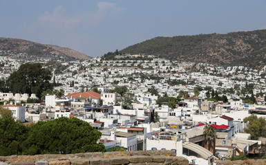 Bodrum Town in Aegean Coast of Mugla Turkey