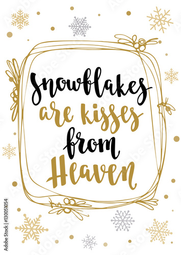 Quot modern calligraphy style winter quote with decorative