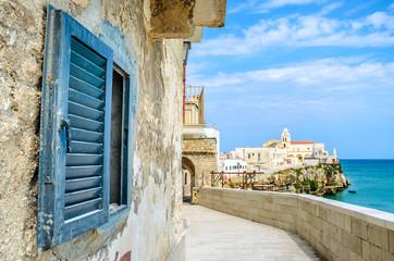 vieste gargano apulia italy window mediterranean sea village