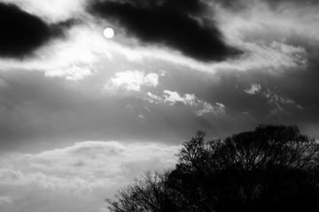 写真素材・雲と太陽