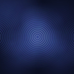 Abstract background with white circles on the dark blur background. Vector