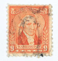 9 cents Washington postage stamp