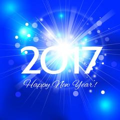 Beautiful  Happy New Year 2017 background