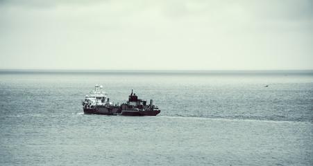 ship at open sea