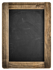 Chalkboard wooden frame Vintage blackboard isolated