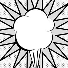 Retro bubble icon. Communication cartoon vintage and comic theme. Grey design. Vector illustration