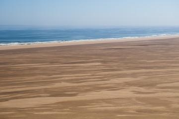 Aerial view of Skeleton Coast, Namib Desert, Namibia, Africa
