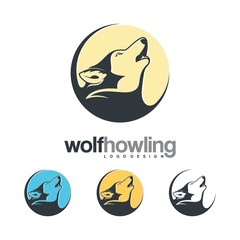 Wolf Howling In The Moon