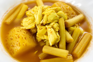 Yellow Curry with crab, Thai food.