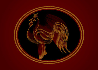 Symbol of the year rooster