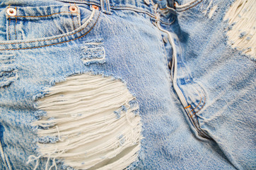 Abstract of lacking jeans and texture background, jeans detail