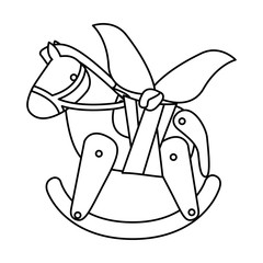 Toy horse damaged icon. Childhood play fun cartoon and game theme. Isolated design. Vector illustration