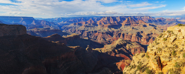 Alluring landscape of rock formation on the south rim of the Gra