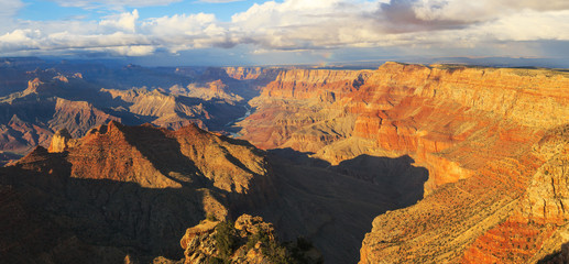 Delightful landscape of rock formation on the south rim of the G