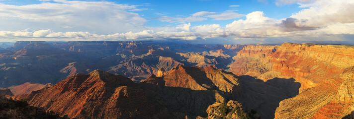 Incredible landscape of rock formation on the south rim of the G