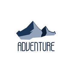 Mountain adventure and expedition logo badges collections. Travel emblems vector