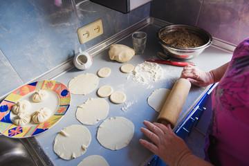 Grandmother roll dough