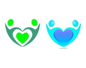 human and hearts