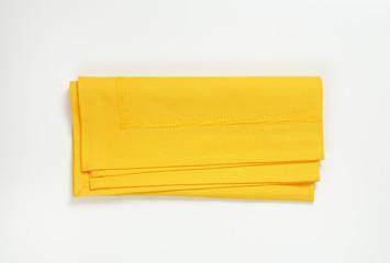 yellow cloth place mat