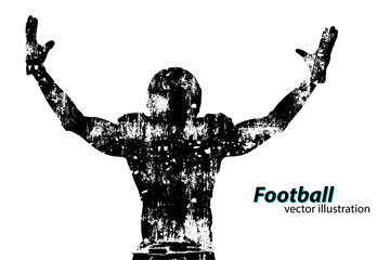 silhouette of a football player. Rugby. American footballer Wall mural