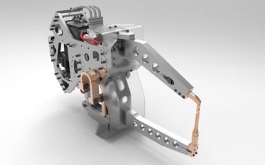 Roboter Automotive Schweisszange Welding Gun Front
