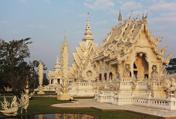 The White Temple (Wat Rong Khun), Ban Rong Khun, Chiang Mai, Thailand, Southeast Asia, Asia