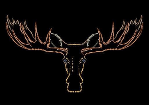 Head of an elk