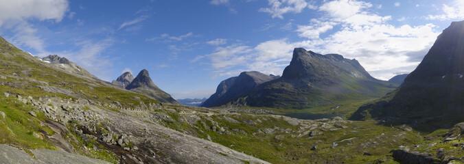 Mountains near Trollstigen, More og Romsdal, Norway, Scandinavia, Europe