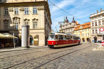 Old tram in Prague
