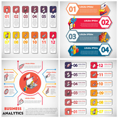 illustration of info graphic business set concept in isometric 3d graphic