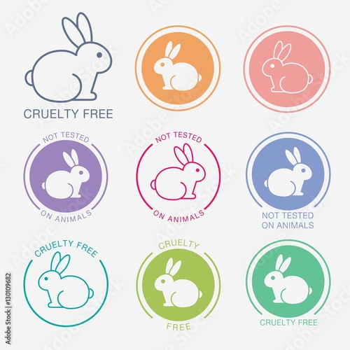 No Animals Testing Icon Design Not Tested Sign Animal Cruelty Free