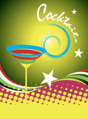Cocktails.Abstract colorful banner
