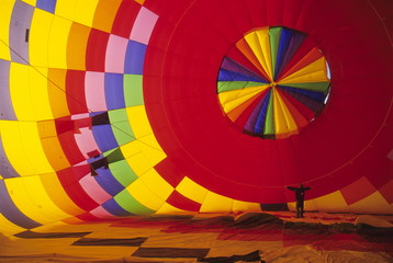 Hot air balloon, Albuquerque, New Mexico, United States of America, North America