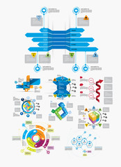 Set of business Infographics, vector