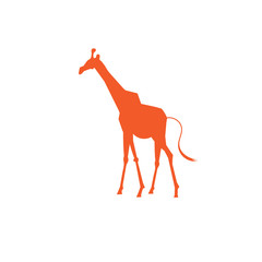 Vector icon bright giraffe