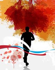 Marathon vector illustration