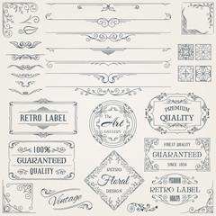 Retro Calligraphic Design Elements2