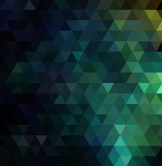 Abstract modern background blue and green triangles