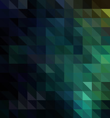 Abstract modern background with blue, black and green triangles