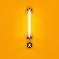 neon light digit alphabet exclamation mark sing font