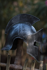 Medieval warrior helmet