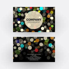 colorful circles of light abstract background. vector profession