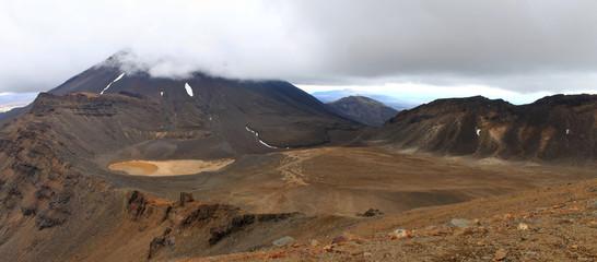 panoramic view of Mount Ngauruhoe