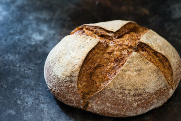 Homemade rye sourdough bread