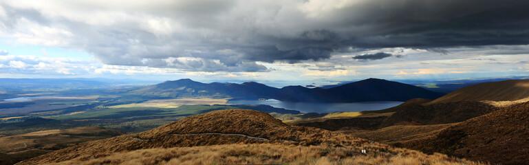 panoramic view of lake Rotoaira