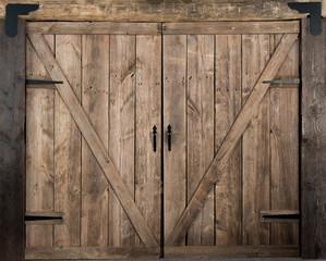 Wooden barn door swing style