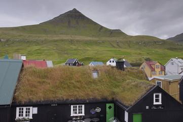 Gjogv, picturesque village in the north of Eysturoy, Faroe Islands (Faroes), Denmark, Europe