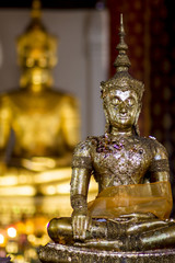 face of Buddha in thailand