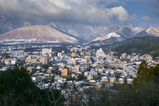 別府 鉄輪温泉の街並み Beppu hot springs